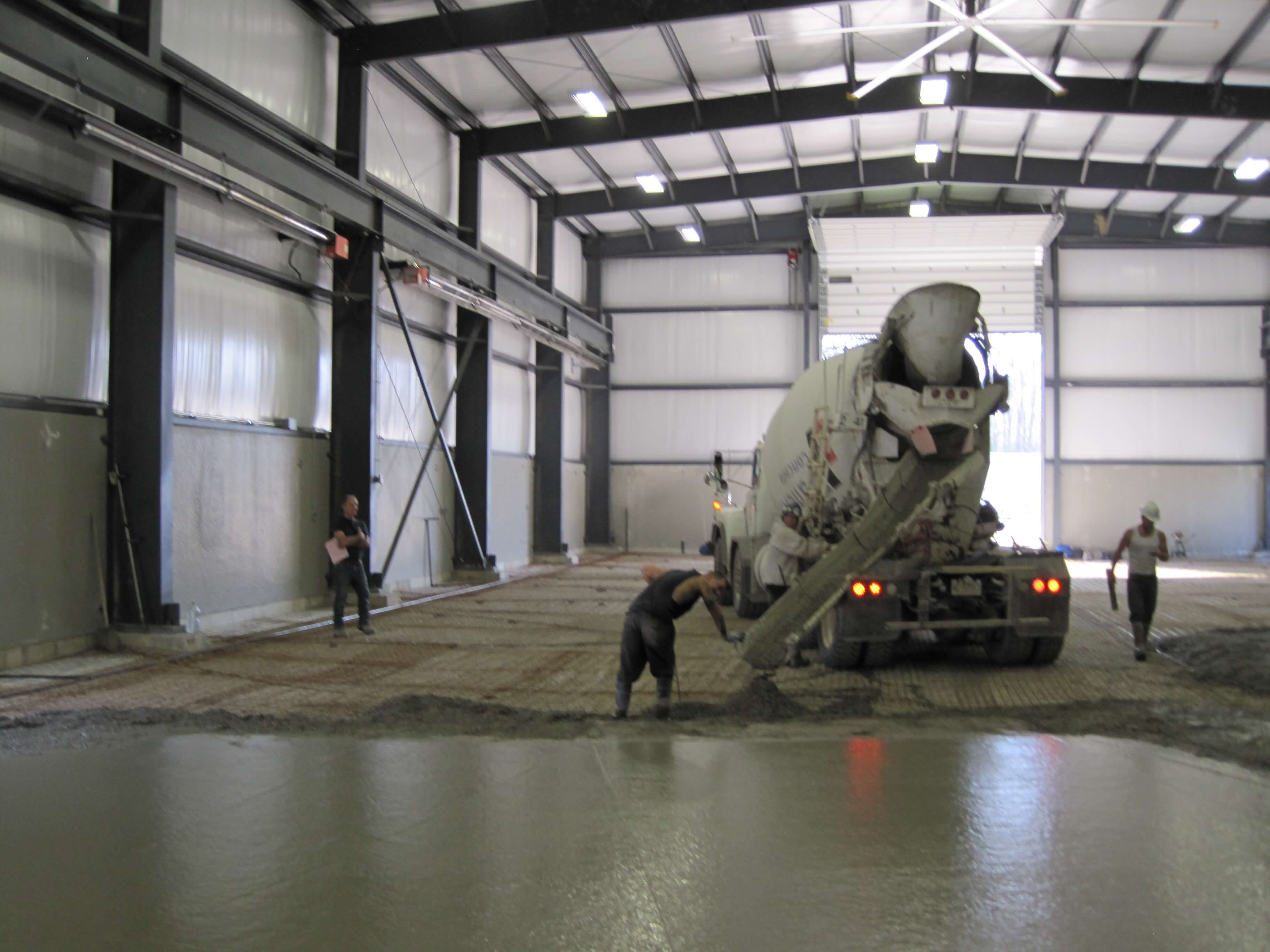 Pouring floor in new addition 2015